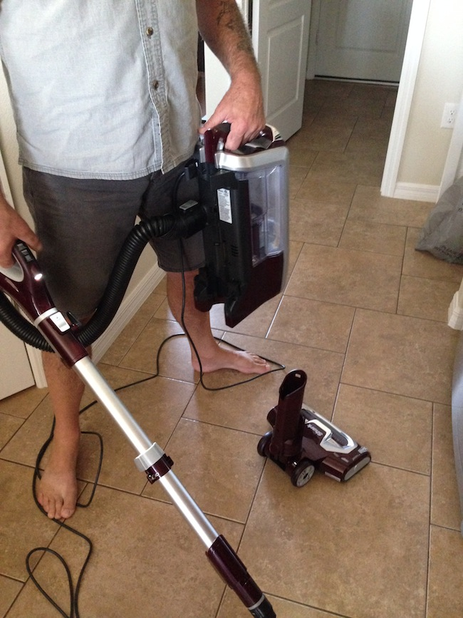 The Shark Rotator Powered Lift-Away Vacuum transforms into Lift-Away mode to reach way under furniture & target dirt without any heavy lifting or moving.