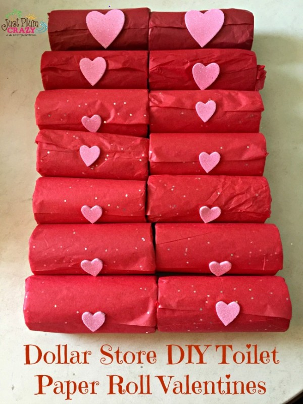 It's easy to create DIY Toilet Paper Dollar Store Valentines for under $5. I made 14 but depending on which candy you purchase, you could make more.