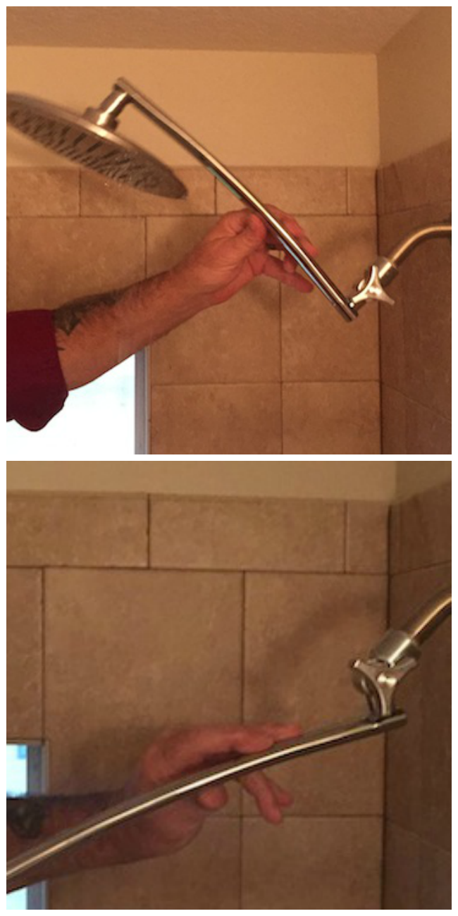 Aquagenix® Razor Mega Size Rainfall Shower