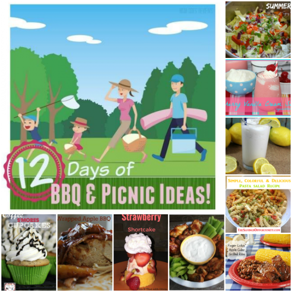 We just finished with our 12 days of BBQ & Picnic recipes. Below you will find all 12 of them. Come back & let me know if you try any of them.