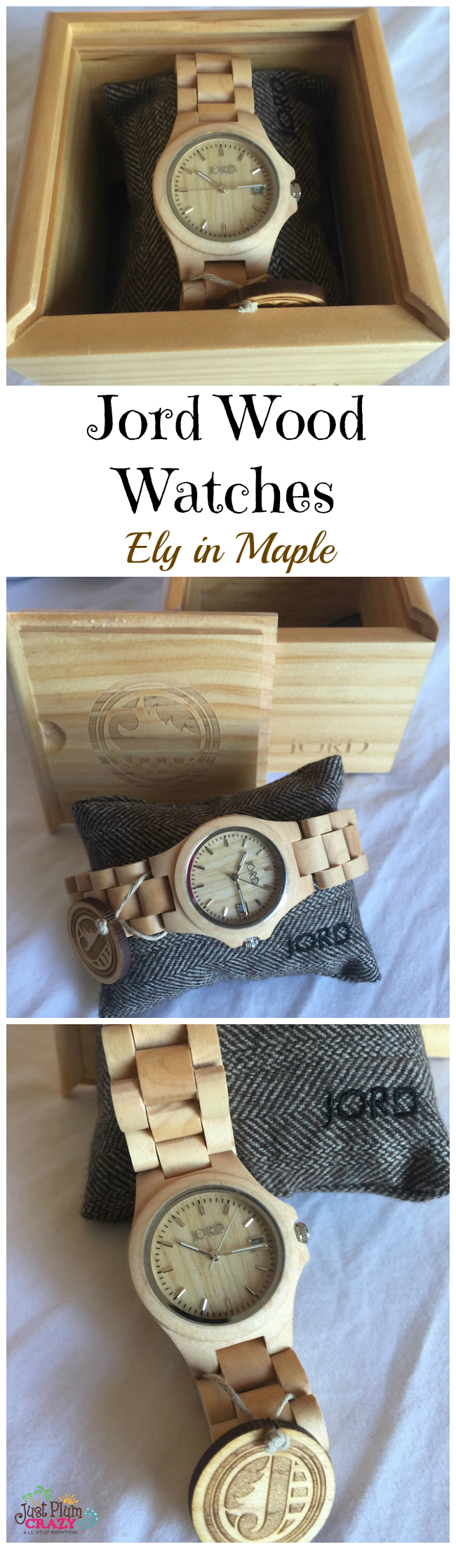 I didn't realize there were so many different Jord Wood Watches. Zebrawood, Cherry, Maple, Bamboo, & Koa plus the different styles, colors and combinations.