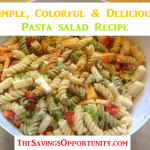 For our final day of 12 Days of Picnic Ideas & BBQ Recipes we have a simple pasta salad. Be sure to revisit the linky below to see all 12 posts.