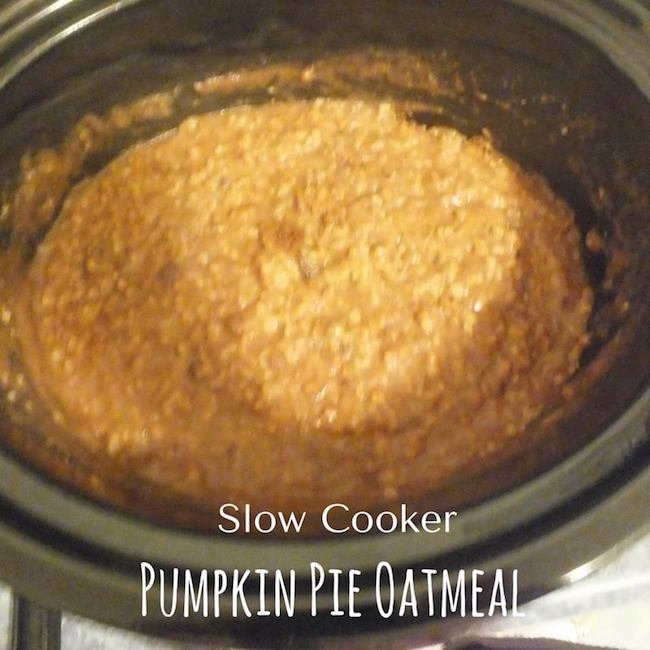 Welcome to day 8 of our 12 days of slow cooker recipes. Today we have a breakfast recipe...Pumpkin Oatmeal! Perfect for the season and the weather.