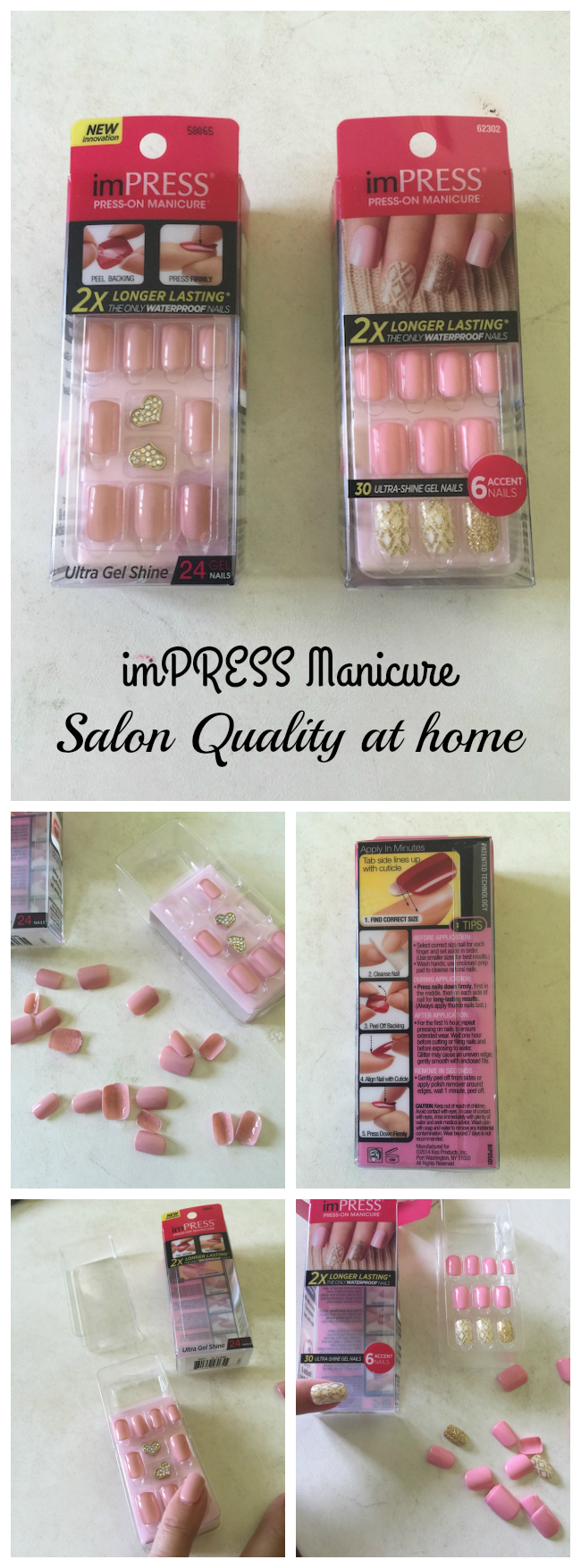 Who has the time and money to get a salon manicure all the time? Not me! I am so glad to have found imPRESS Manicure - Salon Quality at home & oh so easy!