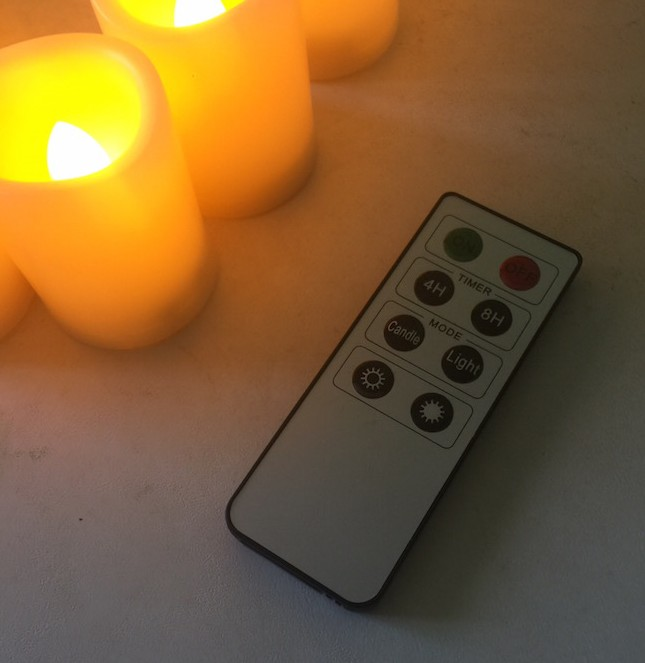 Enjoy flameless candles without the messy wax & dangerous flames & convenience of the remote control. Flickering or straight light & dim or bright.