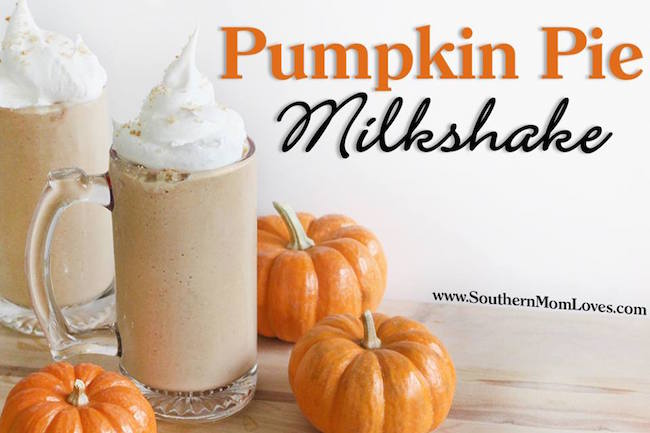 Welcome to day 9 of 12 Days of Thanksgiving recipes & crafts! Today's post from Holly is a mouth-watering recipe for a 5-minute Pumpkin Pie Milkshake