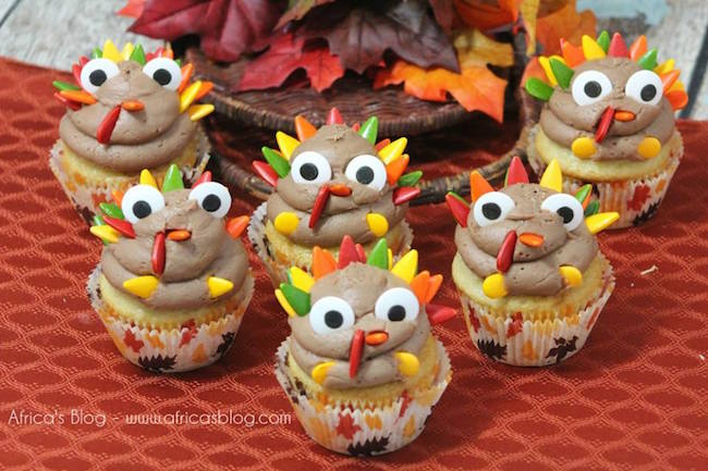 As always, we are having so much fun sharing our recipes & crafts with you this month. with a super fun Turkey Cupcakes to help you celebrate Thanksgiving.