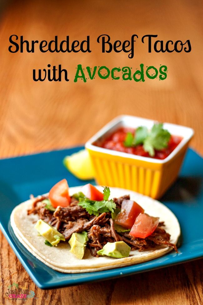 Shredded Beef Tacos recipe is one of my all time favorite game day recipes. We also make it for dinner too & only takes about 10-15 minutes of preparing.