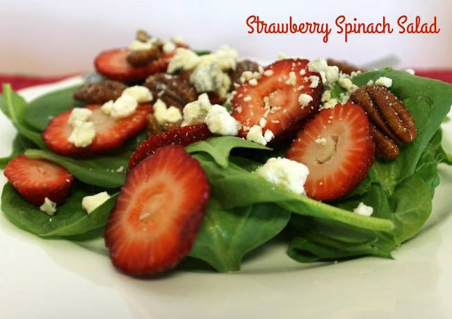 This Strawberry Spinach Salad is sure to please even the pickiest of eaters and is super simple to make for last minute gatherings.