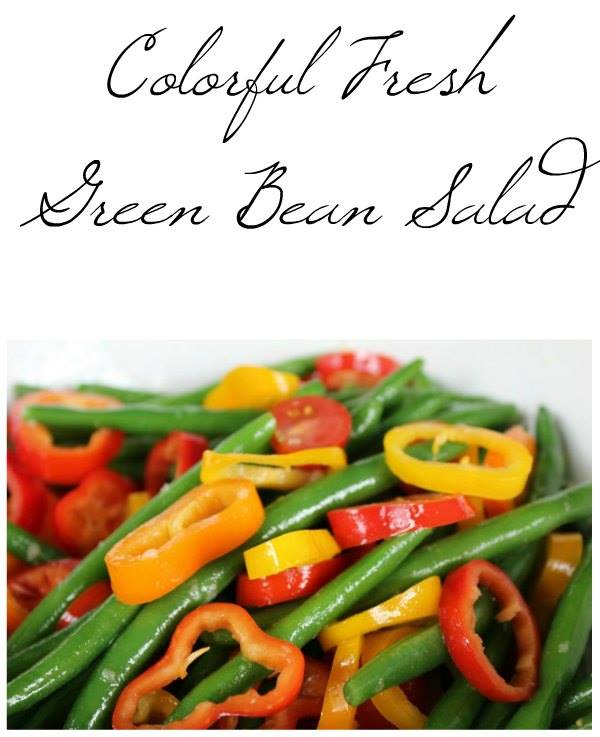 Fresh & Colorful Green Bean Salad Recipe is today's recipe. Welcome to day 12 of our 12 Days Of School Lunches and the last day.