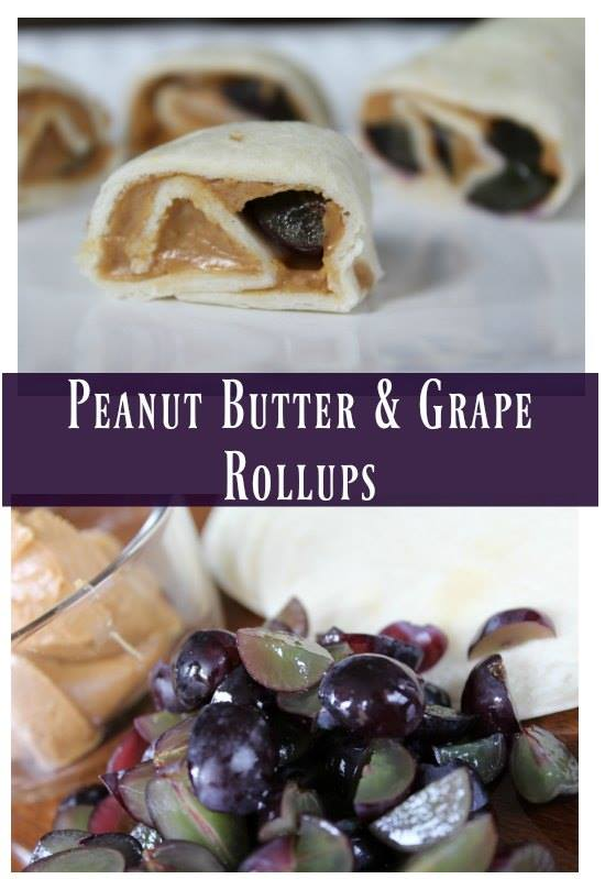I am really excited for this EASY and NUTRITIOUS lunch option (for YOU and the kids!) Grape and Peanut Butter Rollups recipe.