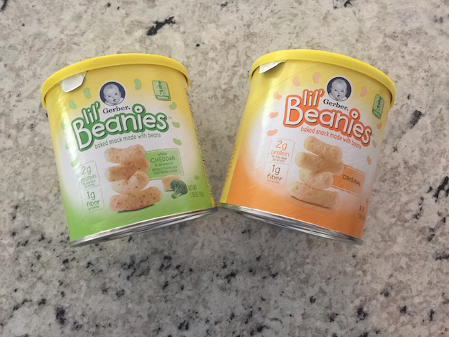 Lil' Beanies delivers 2 grams of protein 9% DV per serving, 1 G of fiber, 10% Daily Value of Vitamin E, are baked, No GMO's & naturally flavored!