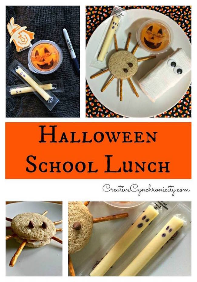 Today we are sharing an adorable idea for a Halloween school lunch idea. Use one idea or use them all and surprise your kids with a treat in their lunch.