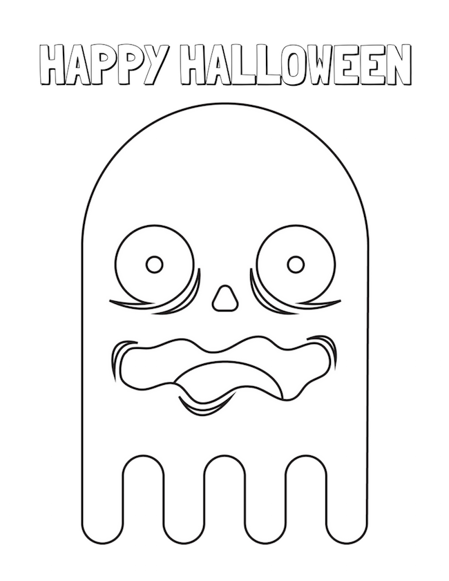 halloween food coloring pages free - photo#23