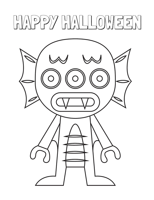 Halloween Coloring Pages Monsters : Halloween coloring pages free printable just plum crazy