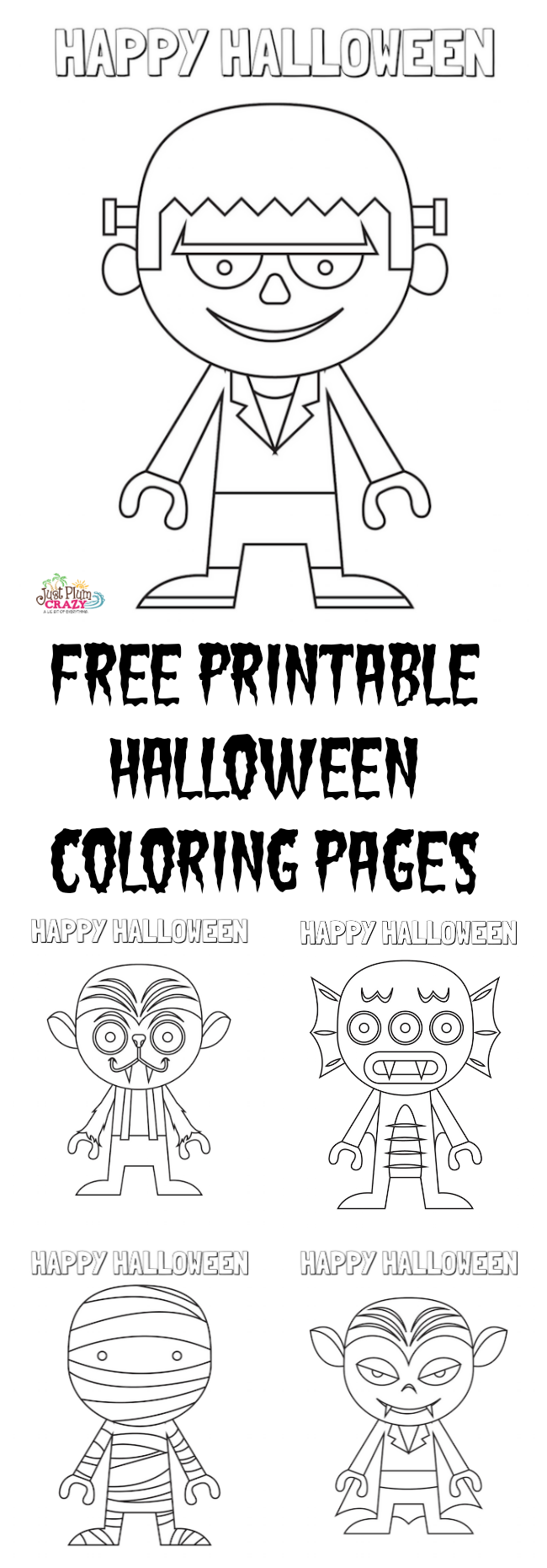 halloween coloring pages free printable just plum crazy