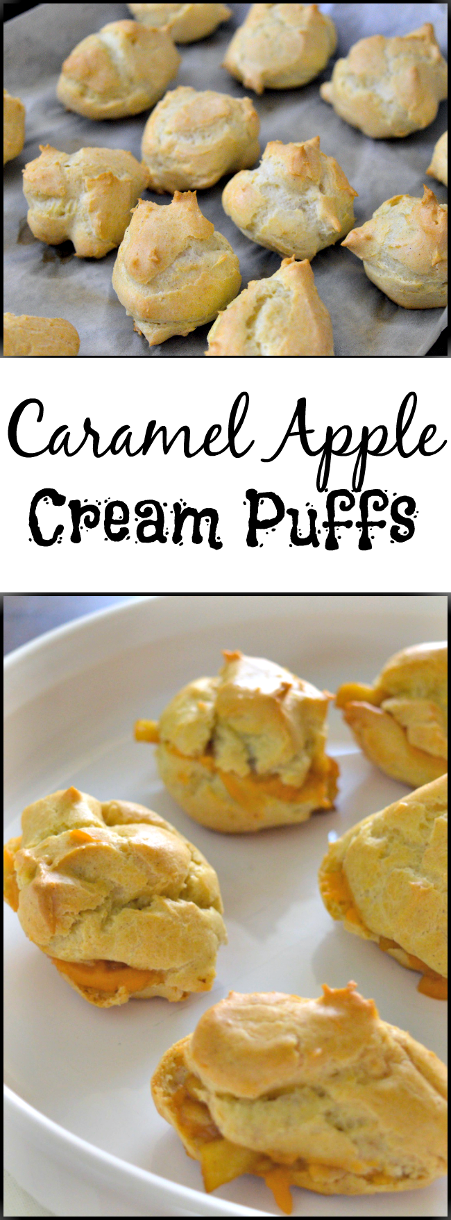 Apples are still in season and we always have at least one apple dessert at our Thanksgiving dinner like this Caramel Apple Cream Puffs recipe.
