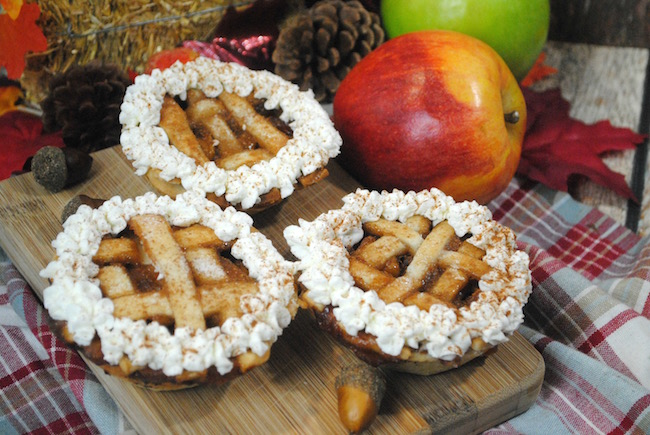 I love the Mini Apple Pies recipe because it gives everyone their own individual pie or if they are too full for dessert, they can take it home with them.