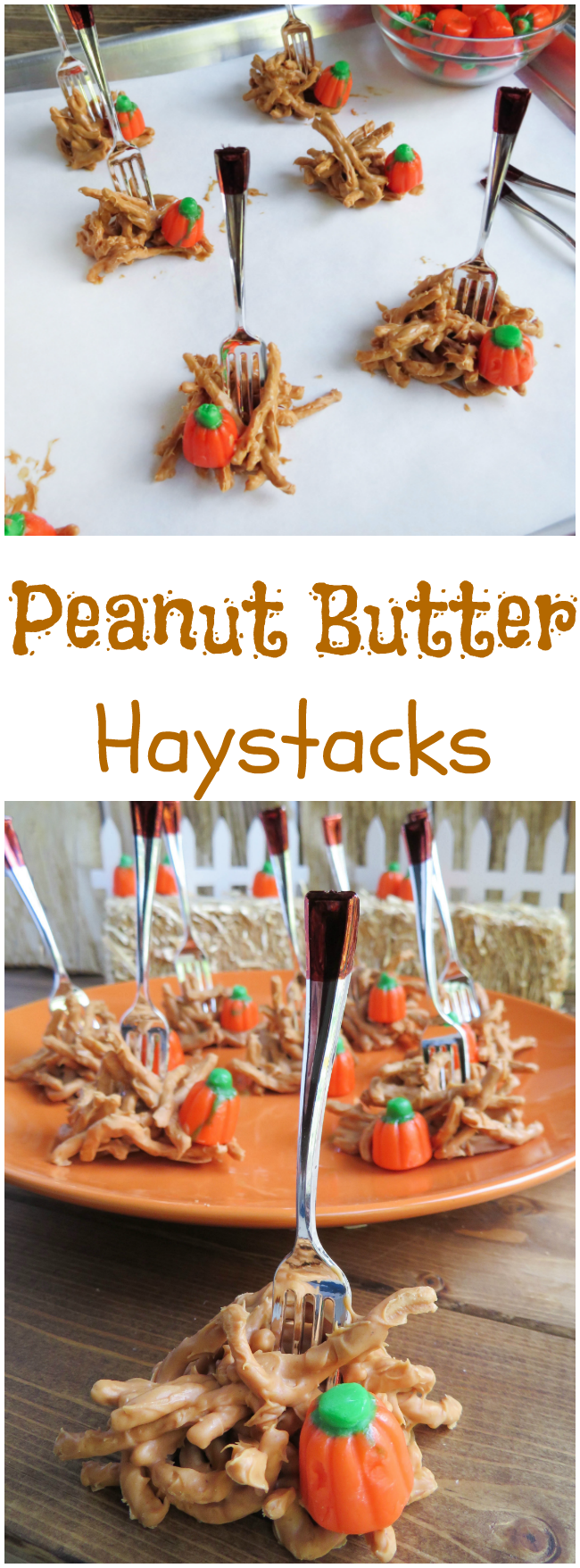 These are a fun and easy snack to make for Thanksgiving. The kids can even help make the Peanut Butter Haystacks recipe and everyone will love them.