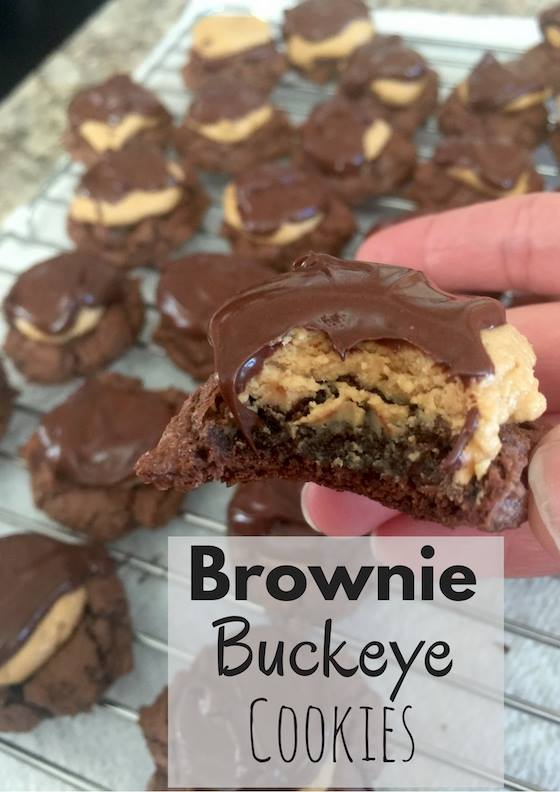 If you love to spend time making delicious cookies for Christmas, we have a treat you will love...Brownie Buckeye Cookies recipe.
