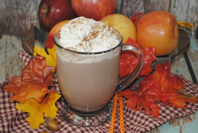 The weather is getting chilly and what better to warm up with than Caramel Apple Cocoa Recipe and some Apple Cider Donuts recipe.
