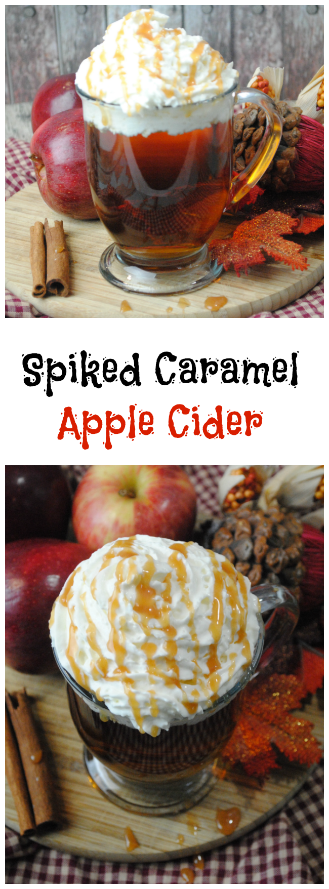 We have already shared some Apple Cider Donuts, Crock Pot Apple Pork Chops and today we have a Spiked Caramel Apple Cider Recipe.