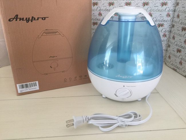 The AnyPro Cool Mist Humidifier is a 3.5L unit that is compact, quiet and powerful. It has a built-in antibacterial material that means no filters needed!