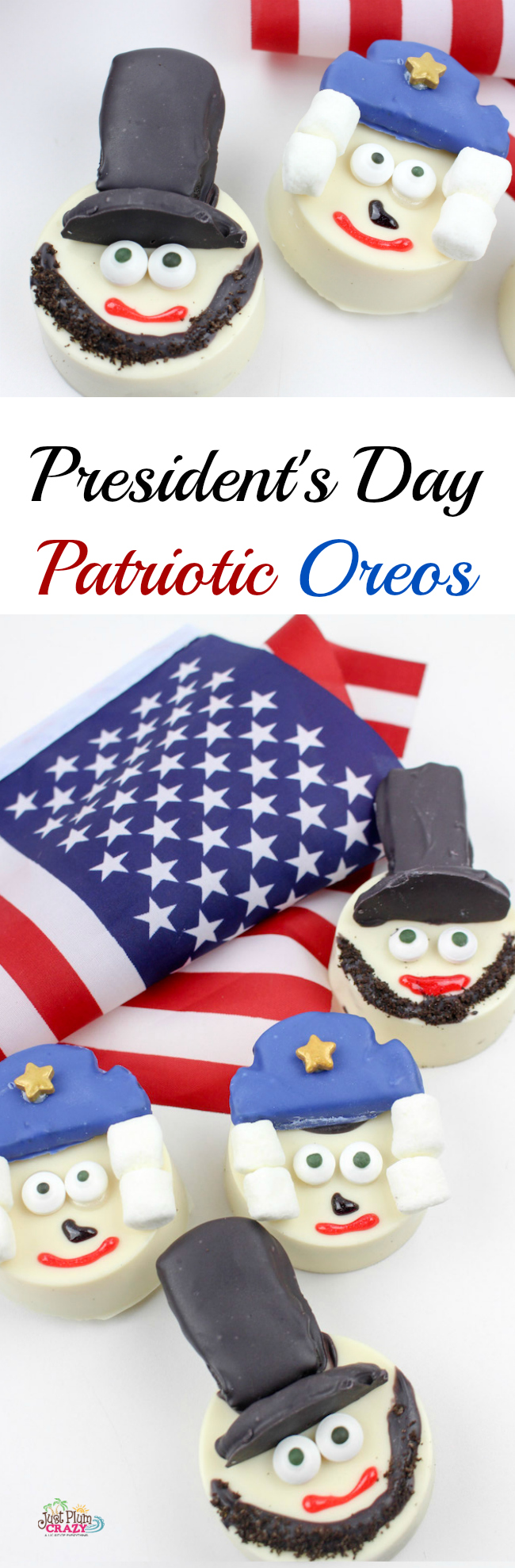 It's only fitting that we make something for President's Day with our President's Day Oreos Recipe which is also my mom's birthday!