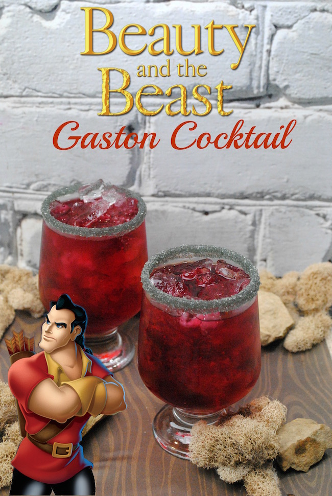 Gaston, the handsome, but shallow villager who woos Belle in Beauty and The Beast, is who we are featuring today with a Gaston Cocktail recipe.