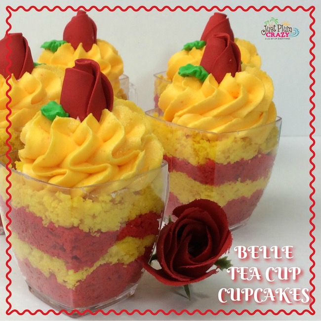 Belle Tea Cup Cupcakes Recipe Beauty and The Beast #BeOurGuest #BeautyAndTheBeast