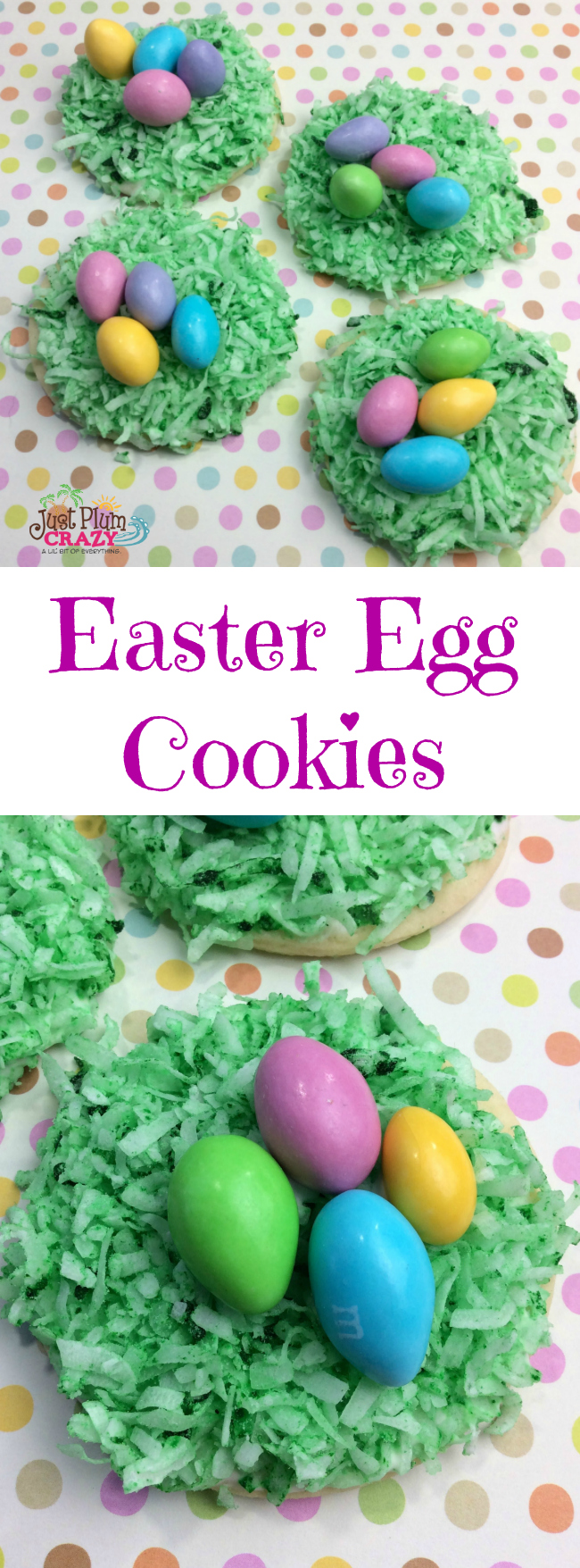 With Easter about a month away, the time will fly by & it will be here before we know it. Today we have Easter Egg Cookies recipe that are cute & tasty.