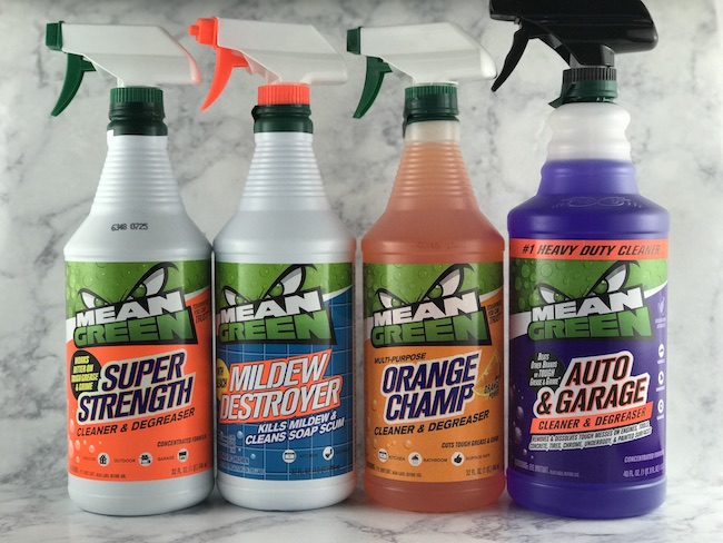 Mean green auto and garage cleaner and degreaser just for Garage floor cleaner degreaser