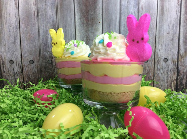 The Peep Cheesecake recipe is a cute and fun recipe that will thrill the kids as well as the adults at your Easter dinner or brunch or lunch.