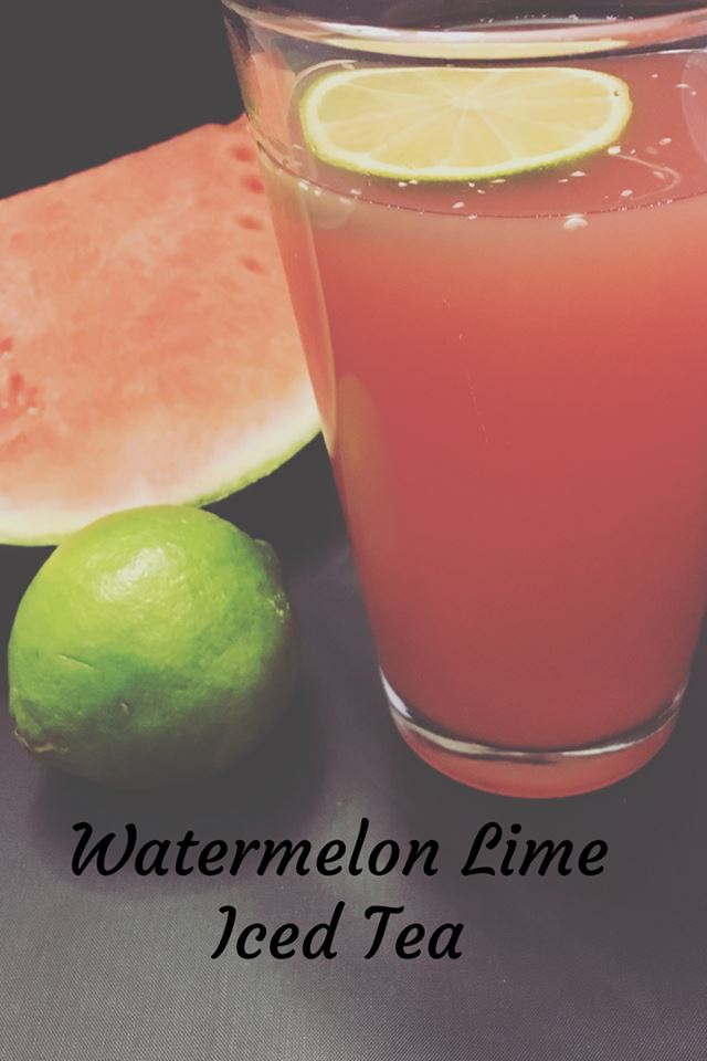 Whenever I think of picnics and summer BBQ's I think of watermelons. Today we have a Watermelon Lime Iced tea recipe sure to be a crowd-pleaser!