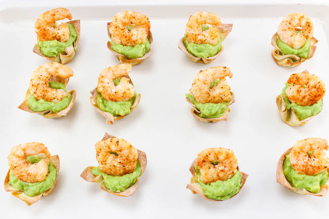 The Weight Watchers Shrimp and Guacamole Wontons recipe is not only easy to make but keeps me on plan without going over with 2 smart points per 2 wontons.