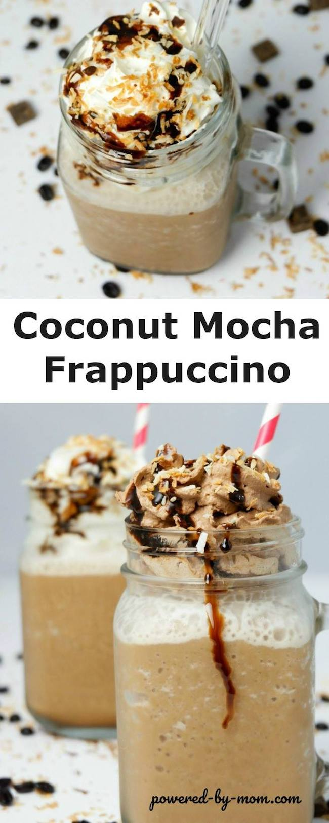 Today it's a yummy Coconut Mocha Frappuccino from Powered by Mom. If you love coconut, chocolate and coffee you'll love this cool summer treat.