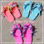 DIY Ribbon Flip Flops Craft #NationalFlipFlopDay