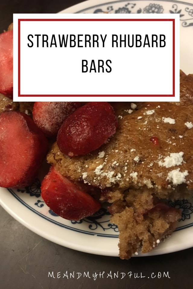 Summer is coming fast, and it's a great time to make some delicious summer treats like this Strawberry Rhubarb Bars Recipe.