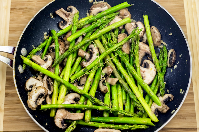 The Gluten Free Skillet Mushroom And Asparagus With Lemon Thyme Is Whole