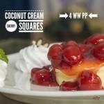 Coconut Cream Cherry Squares – 4 WW PP
