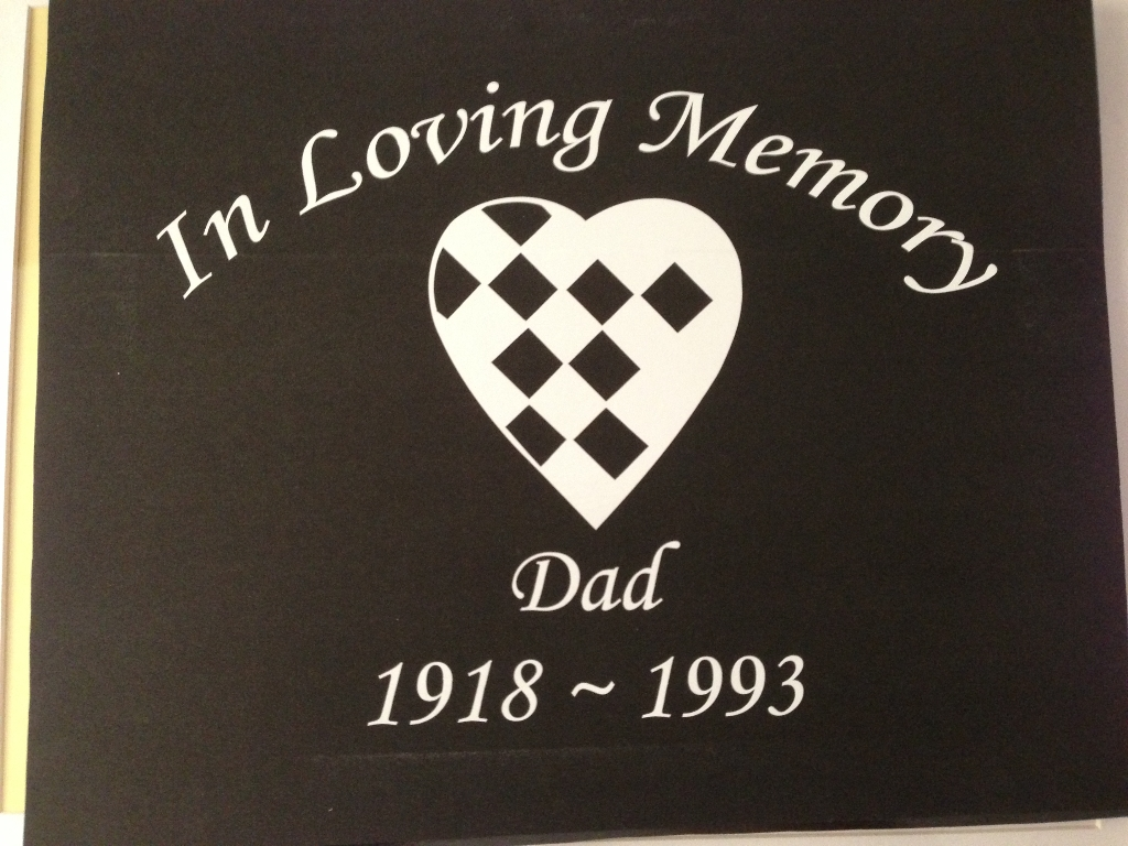 Car decal and sticker in memory of my dad.