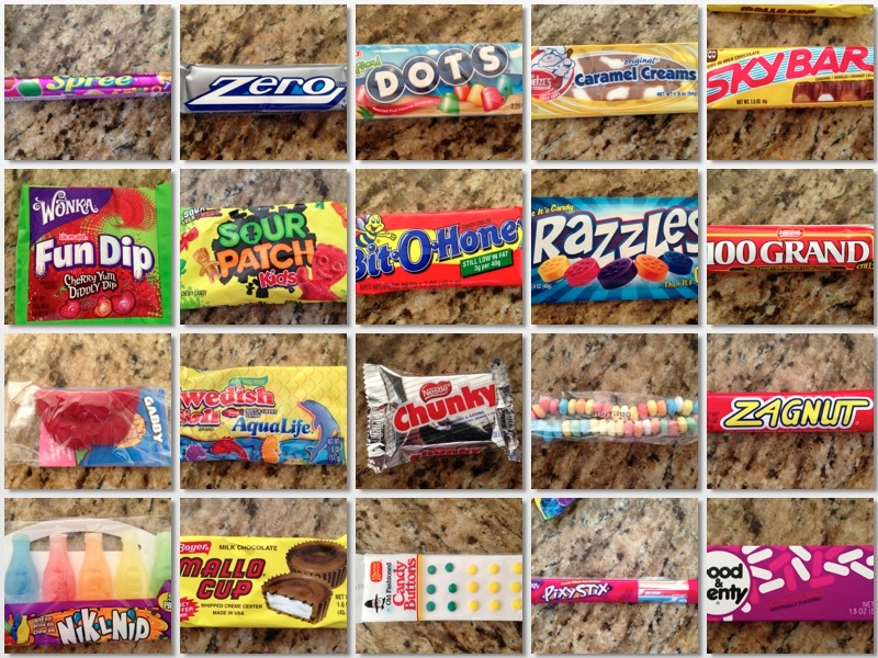 All the candies I ate as a kid!