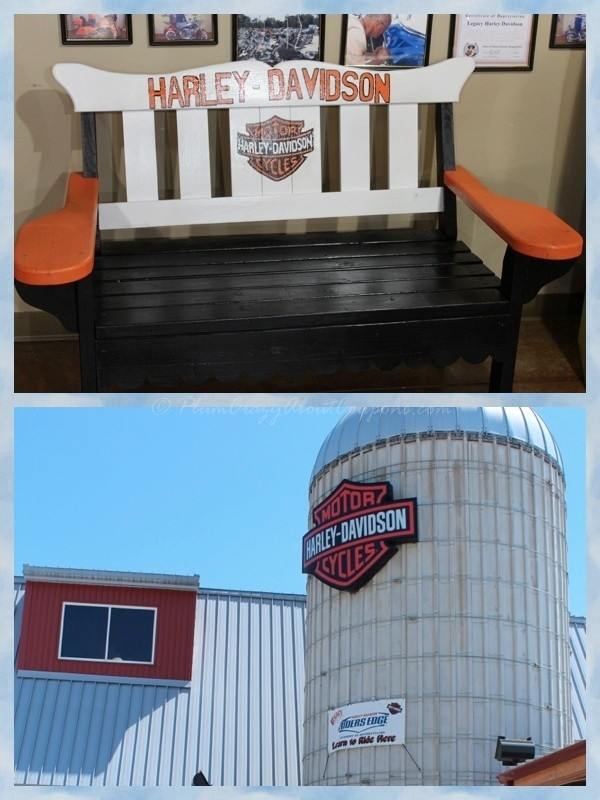Harley Davidson barn and bench in Effingam IL