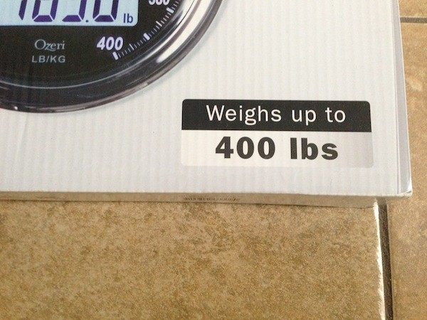Digital Bathroom Scale from Ozeri weights up to 400 pounds