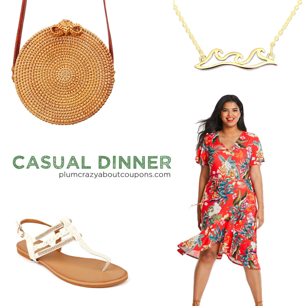 Plus Size Cruise Outfit - Dinner Casual