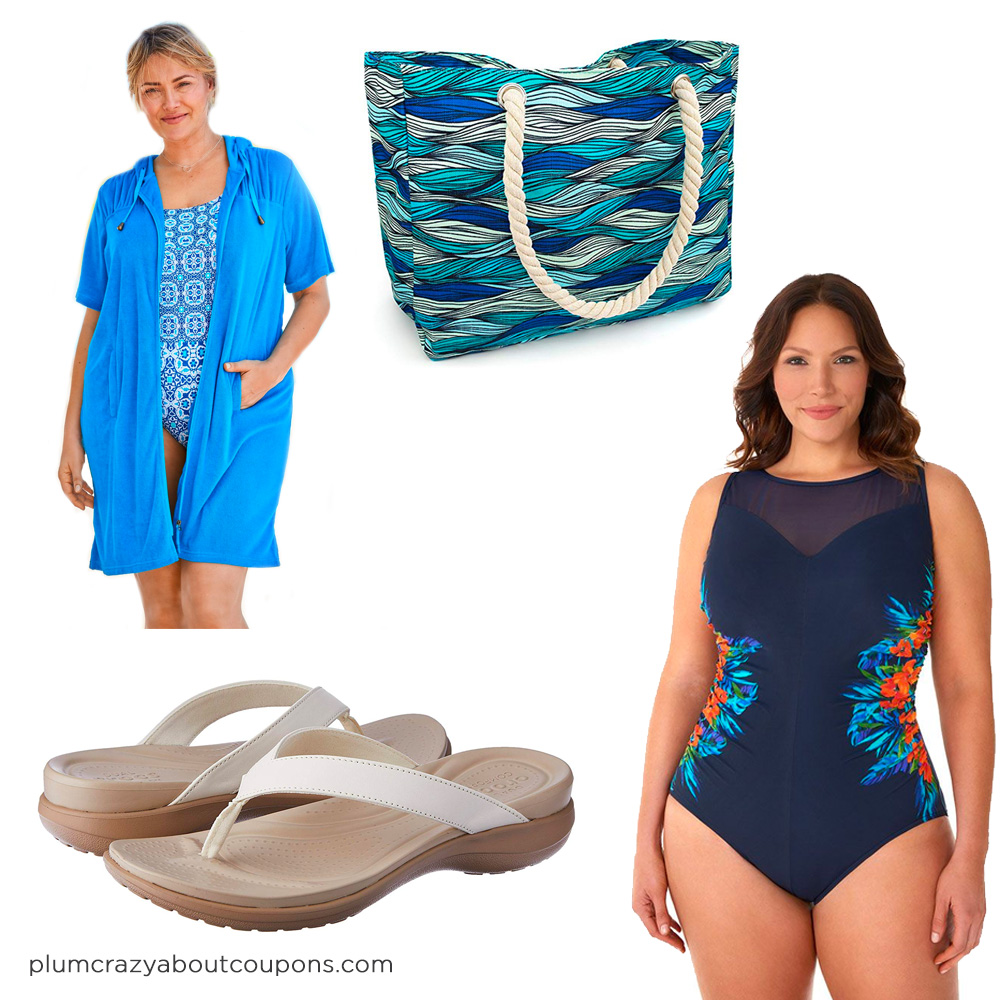 Plus Size Cruise Wear - Swimsuit & Cover Up
