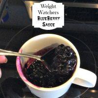 Weight Watchers Blueberry Sauce
