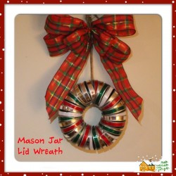 Making a Mason Jar Lid Wreath is really much easier than you think and receives lots of compliments, coming from a not so very crafty person.