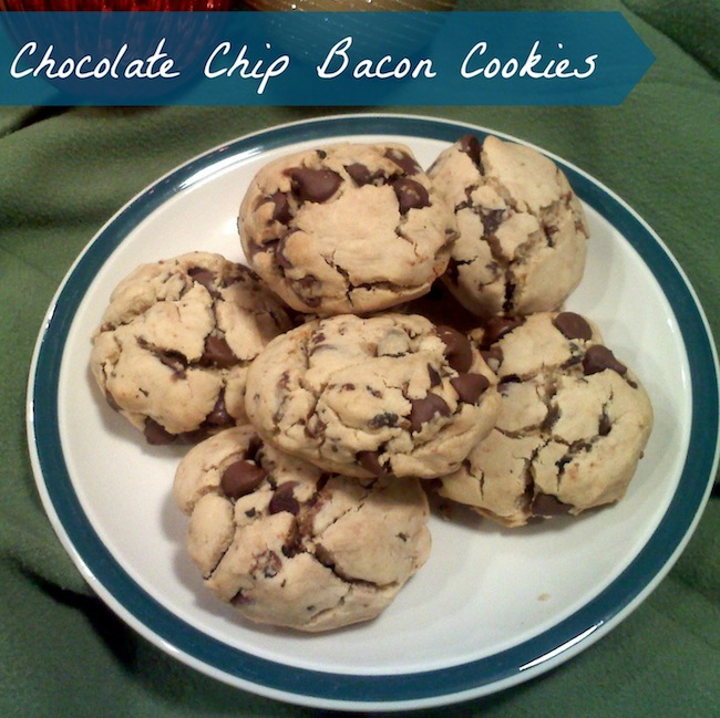 Who would have thought of making a chocolate chip bacon cookie? Well, we have right here in our 12 Days of Christmas Desserts! #ChristmasDesserts