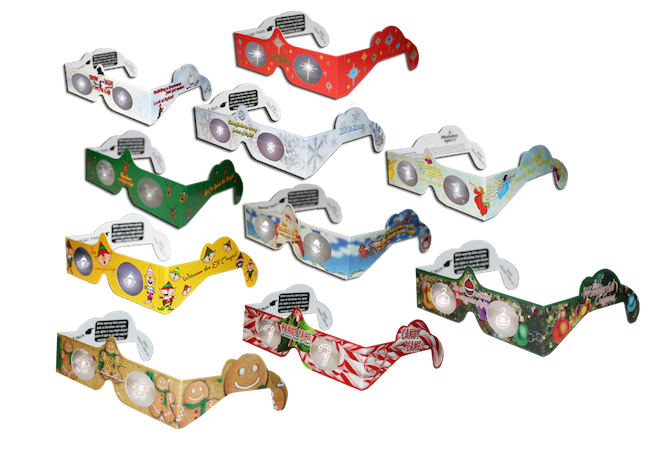 Holiday Specs 3D Christmas Glasses amazing are great for party favors, teacher/student gifts, decorations, holiday gifts, holiday light displays & more.